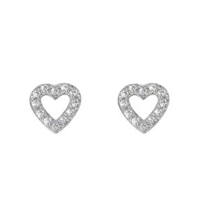 oorstekers Staal Kristal hart liefde