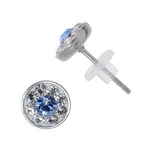 Pendientes Acero fino Acero quirúrgico cristales de Swarovski
