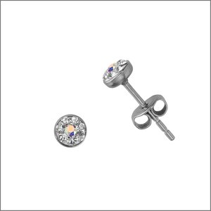 Earrings Stainless Steel Surgical Steel 316L Swarovski crystal