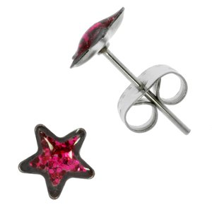 Pendientes Acero quirúrgico epoxy Estrella