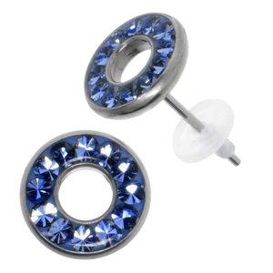 Earrings Stainless Steel Surgical Steel 316L Swarovski crystal Epoxy PVC
