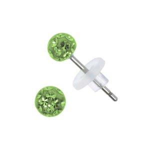 Ohrstecker Chirurgenstahl 316L Chirurgenstahl 316L Kristall Epoxiharz PVC