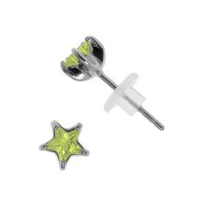 Orecchini Acciaio inox Metallo chirurgico 316L Zircone Stella