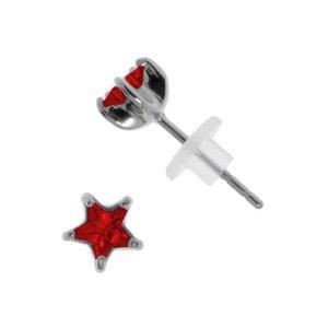 Pendientes Acero fino Acero quirúrgico Circonita Estrella
