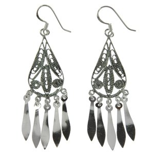 Dangle earrings Silver 925 Tribal_pattern