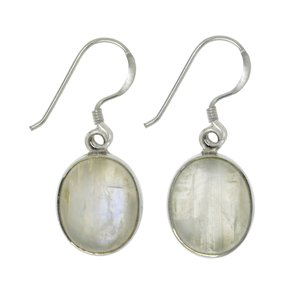 Dangle earrings Silver 925 Moonstone