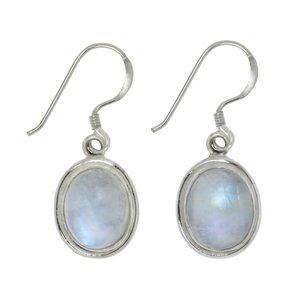 Dangle earrings Silver 925 Rainbow Moonstone
