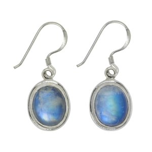 Dangle earrings Silver 925 Blue moonstone