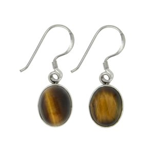 Dangle earrings Silver 925 Tiger´s eye