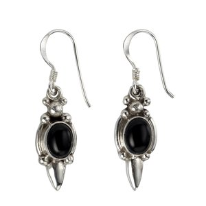 Dangle earrings Silver 925 Onyx