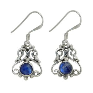 Dangle earrings Silver 925 Moonstone Tribal_pattern