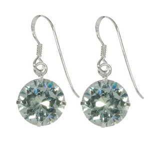 Dangle earrings Silver 925 zirconia