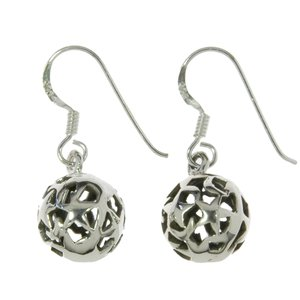 Dangle earrings Silver 925 Tribal_pattern Star