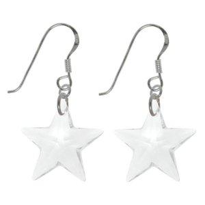 Ohrhänger Silber 925 Kristall Stern