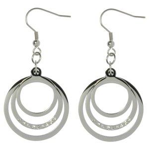 Dangle earrings Surgical Steel 316L Crystal