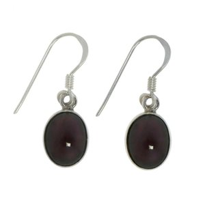 Dangle earrings Silver 925 Garnet
