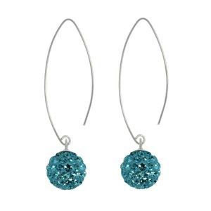 Dangle earrings Silver 925 Crystal