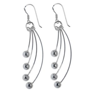 Dangle earrings Silver 925 Wave