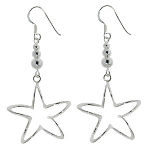 Dangle earrings Silver 925 Star Eternal Loop Eternity Starfish
