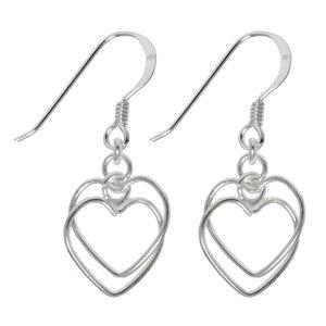 Ohrhänger Silber 925 Herz Liebe
