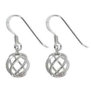 Dangle earrings Silver 925 Wave Eternal Loop Eternity