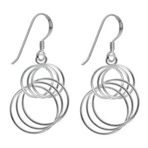 Dangle earrings Silver 925 Eternal Loop Eternity