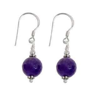 Dangle earrings Silver 925 Amethyst