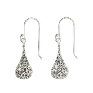 Dangle earrings Silver 925 Crystal Drop drop-shape waterdrop