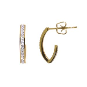 Earrings Surgical Steel 316L Crystal Gold-plated