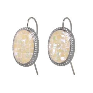 Dangle earrings Surgical Steel 316L Mother of Pearl