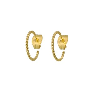 Earrings Surgical Steel 316L PVD-coating (gold color)