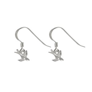 Dangle earrings Silver 925 Eagle Bird Stork