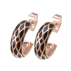Earrings Surgical Steel 316L PVD-coating (gold color) Plaid Checked Stripes Grooves Rills