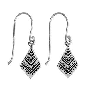 Ohrhänger Silber 925 Streifen Rillen Linien