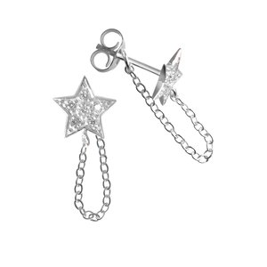 Ear studs Silver 925 zirconia Star