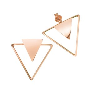 Ear studs Silver 925 Gold-plated Triangle