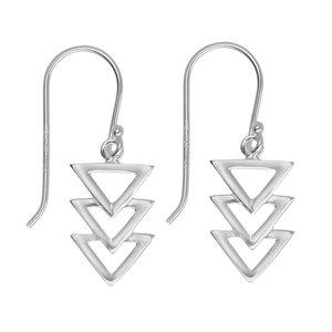 Ohrhänger Silber 925 Dreieck