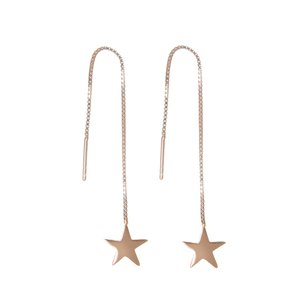 Dangle earrings Silver 925 Gold-plated Star