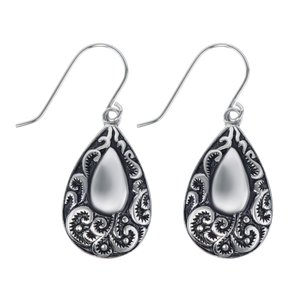 Dangle earrings Stainless Steel Drop drop-shape waterdrop Leaf Plant_pattern Tribal_pattern
