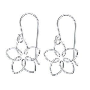 Ohrhänger Silber 925 Blume Blatt Pflanzenmuster Florales_Muster