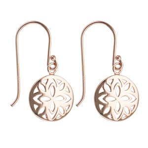 Dangle earrings Silver 925 Gold-plated Flower Leaf Plant_pattern
