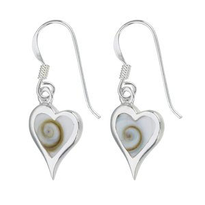 Dangle earrings Silver 925 Shiva´s Eye Heart Love