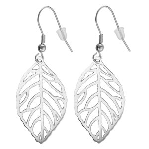 Dangle earrings Stainless Steel Leaf Plant_pattern