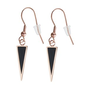 Dangle earrings Stainless Steel PVD-coating (gold color) Black PVD-coating Triangle