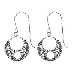 Dangle earrings Silver 925 Leaf Plant_pattern