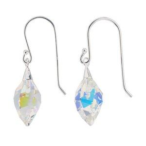 Dangle earrings Silver 925 Swarovski crystal Drop drop-shape waterdrop