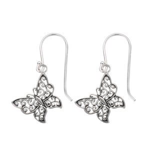 Dangle earrings Silver 925 Butterfly