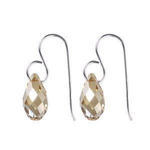 Dangle earrings Silver 925 Swarovski crystal Drop drop-shape waterdrop