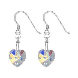 Ohrhänger Silber 925 Kristall Herz Liebe