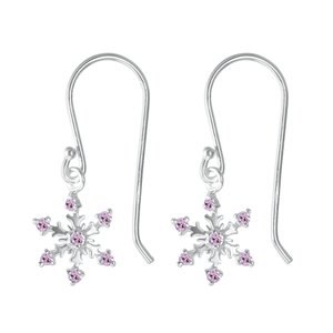 Dangle earrings Silver 925 zirconia Star